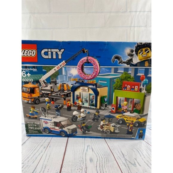 790 Pieces LEGO City Donut Shop Opening Toy Building Set